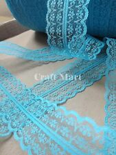 VINTAGE white black red peach blue LACE RIBBON TRIM 40mm WIDE BRIDAL CRAFTS