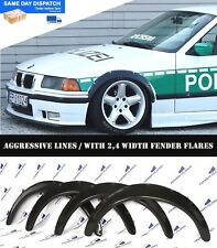 BMW E36 Fender Flares WHEEL Arches Extension Wide Body Kit 2.4 Inch Black ABS