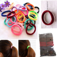 50Pcs Women Girls Hair Band Ties Rope Ring Elastic Hairband Ponytail Holder m9