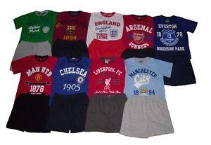 Boys Pyjamas Official Mixed Football Teams 7-16 Years Old Short