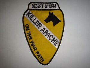 Desert Storm (1990-1991) Patch US 1st CAVALRY Div AVIATION BRIGADE Killer Apache