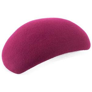 Womens Wool Felt Tilt Hat Cocktail Fascinator Untrimmed Pillbox Base A597