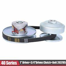 """Go Kart 40 Series Torque Converter 1"""" Driver + 3/4' Driven Clutch + Belt 203785"""
