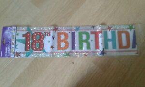 HAPPY 18TH  BIRTHDAY  FOIL BANNER