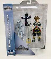 Kingdom Hearts: Diamond Select, Action Figures, SORA, DUSK & SOLDIER Disney, NEW