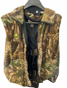 Rocky Camouflaged Hunting Vest with Safety System Harness XXL