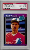 RANDY JOHNSON ROOKIE 1989 DONRUSS PSA GRADED NM-MT 8 SEATTLE MARINERS EXPOS RC