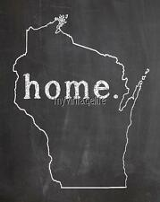 """WISCONSIN HOME STATE PRIDE 2"""" x 3"""" Fridge MAGNET CHALKBOARD CHALK COUNTRY"""