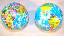 6 World Globe Map Bounce Balls novelty squeeze novelty toy bouncing play ball