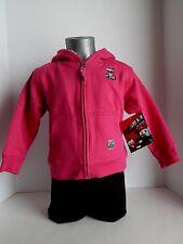 Case IH Toddler Pink Sherpa Lined Zip Hoodie Jacket