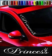"PRINCESS Decal 8.5/"" X 10.75/"" CROWN sticker decals truck car window Wall laptop"