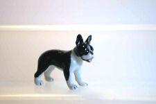 KLIMA Miniature en porcelaine - CHIEN BEBE BULLDOG FRANCAIS NOIR ET BLANC