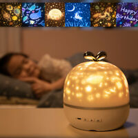Starry sky Ocean LED Night Light Projector with 6 Films 3 Lighting Modes