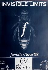 INVISIBLE LIMITS - 1992 - Konzertplakat - Familiar - Tourposter - Bremen