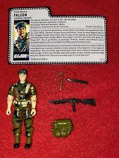 1987 GI JOE FALCON v1 100% COMPLETE WITH FILE CARD