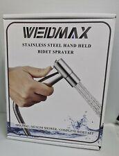 NEW WEIDMAX Hand Held Bidet Sprayer Stainless Steel Brushed Nickel Kit Muslim
