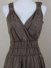 DNKY Jeans Summer Dress Sleeveless Light Brown Size M Medium