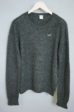 xgm298 hommes Hollister gris coton col rond acrylique polyester Tricot Taille S
