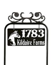 Reflective Address / House Sign - The Abigail - black, handcrafted, all metal