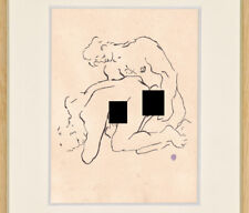Jean Cocteau Drawing Nude Male Youth Gay Erotic French Homosexual Sketch Lovers