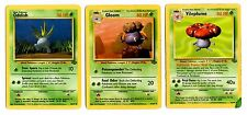 Oddish - Gloom - Vileplume - Jungle - Full Evolution Pokemon Card Bundle
