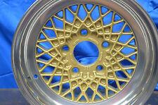 BMW BBS Alufelgen ET11 7x14 Stern goldlackiert Bett poliert Lk 5x120, E12,E24