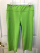 Under Armour Green Yoga Fitness AllSeasonGear Fitted Athletic Pants Youth Large