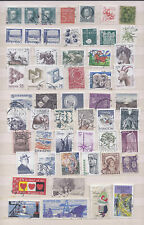 SWEDEN,  54 DIFFERENT USED  STAMPS