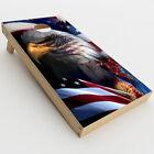 Skin Decals for Cornhole Game Board 2xpcs. / USA Bald Eagle in Flag