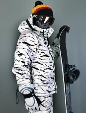 K style [Southplay] White Camo Winter Waterproof Ski-Snowboard Jacket S~XXL
