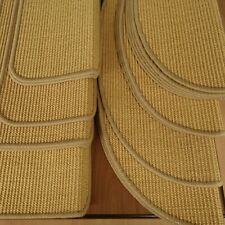 Abverkauf Stufenmatte Sisal Boucle fein HILL Honig Naturfaser m. Metallwinkel