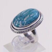 Sz 5 Vtg Native American Navajo Handmade Sterling 925 Silver W/ Turquoise Ring