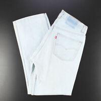 Vintage LEVI'S 501 MADE IN USA Blue Denim Regular Straight Jeans Mens W34 L31