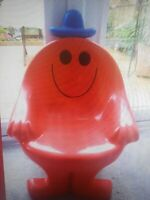Retro Mr Men Child Plastic Chair Super Rare 1980s