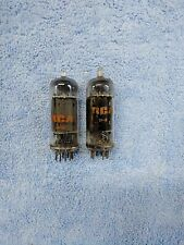 6FQ7 6CG7 LOT OF 2 USED RCA CLEARTOP TUBES, TV-7 D/U TESTED #B-2