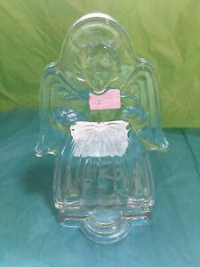 Mikasa Crystal Votive Singing Angel 6 1/2-Inch Glass Candle Holder  No Box