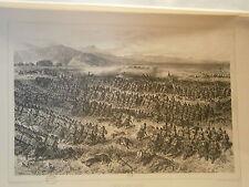Planche gravure Le combat d'Oued Alleg 31/12/1839   Par  Auguste Raffet