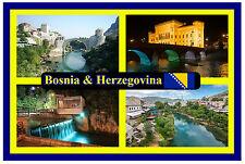 BOSNIA & HERZEGOVINA - SOUVENIR NOVELTY FRIDGE MAGNET - BRAND NEW - GIFT / XMAS