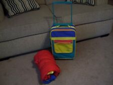 Child's Sleeping Bag and Rolling Suitcase Set….Pre-Owned