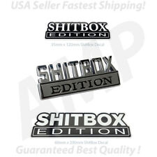 3pc SHITBOX EDITION Emblem Chrome Badges Decal Sticker Fit For Car or Truck