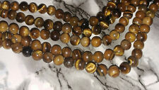 NEW 8MM Natural Tiger Eye Gemstone Round Spacer Loose Beads About 47pcs. DIY
