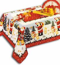 TOVAGLIA 6 Posti 140x180 cm Natalizia Inverno Neve Natale Rossa Babbo Natale