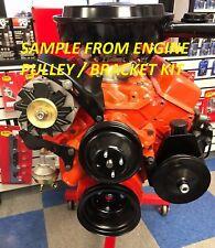 Sb Chevy Sbc Complete Lwp Steel Pulley Kit Withalternator Power Steering New