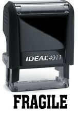 FRAGILE stamp text on the IDEAL 4911 Self-inking Rubber Stamp with BLACK INK