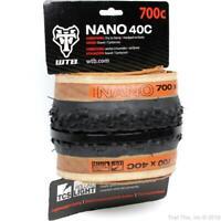 WTB Nano 40 Tire 700 x 40 TCS Tubeless Fast Rolling Gravel Bike Tire Black & Tan