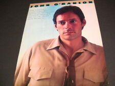 John O'Banion debut lp matches success of single 1981 Promo Poster Ad mint cond.