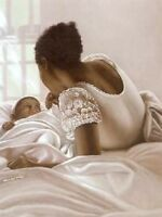 African American Art Print - The Light of My Life  24 x 30 - Hulis Mavruk - New!