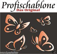Wandschablonen, Schablone, Wandtattoo, Malerschablone -  Schmetterlinge NEU