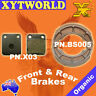 FRONT REAR Brake Pads Shoes SUZUKI DR 200 SE Trojan