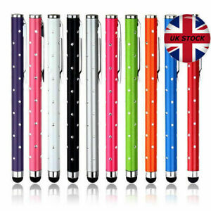 2 x HIGH QUALITY CRYSTAL EFFECT STYLUS PEN FOR APPLE ANDROID - All COLOURS